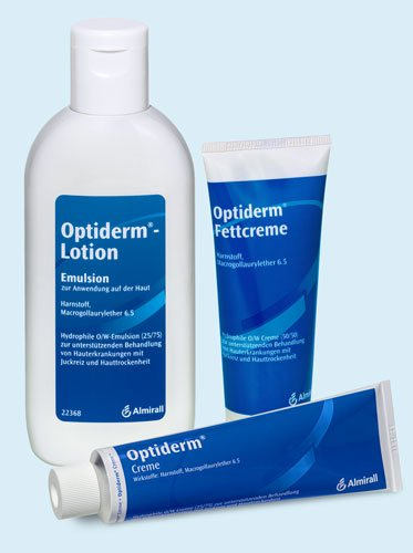 Optiderm Creme, Lotion und Fettcreme